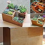 Easydeal Wooden Garden Window Box Trough Planter Succulent Flower Bed Pot (Three gird)