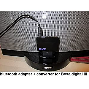 BMR A2DP 2in1 Bluetooth Music Receiver With 8 To 30 Pin Converter for Bose Sounddock Digital III
