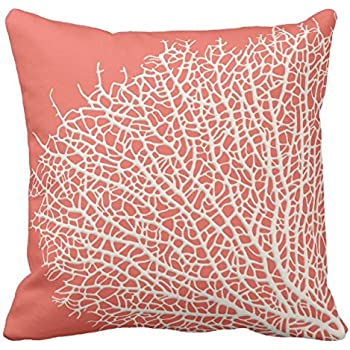 Amazon Com Uoopoo Coral Branch Throw Pillow Case Square