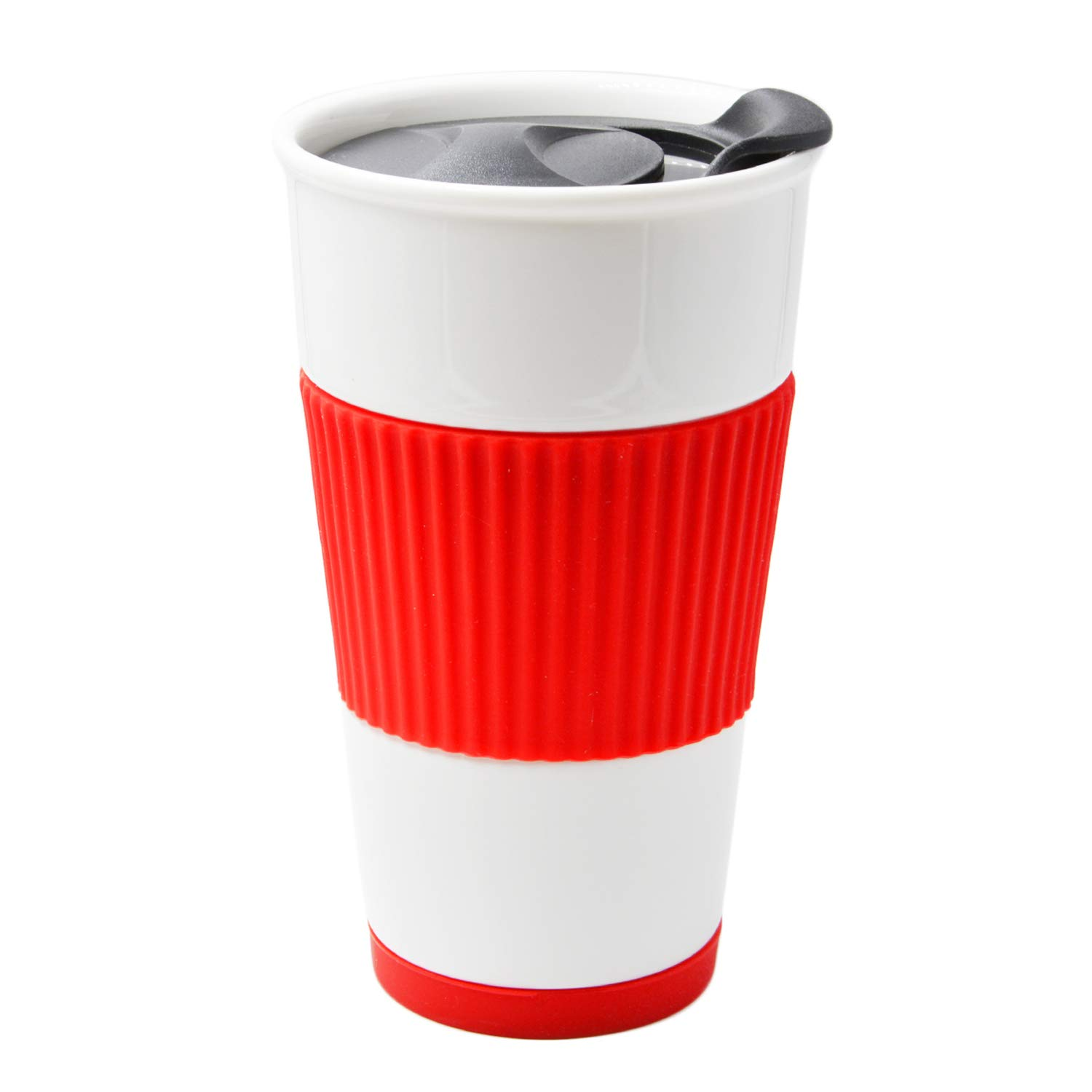 UDMug Car Commuter Travel Coffee Ceramic Cup with Slider Lid
