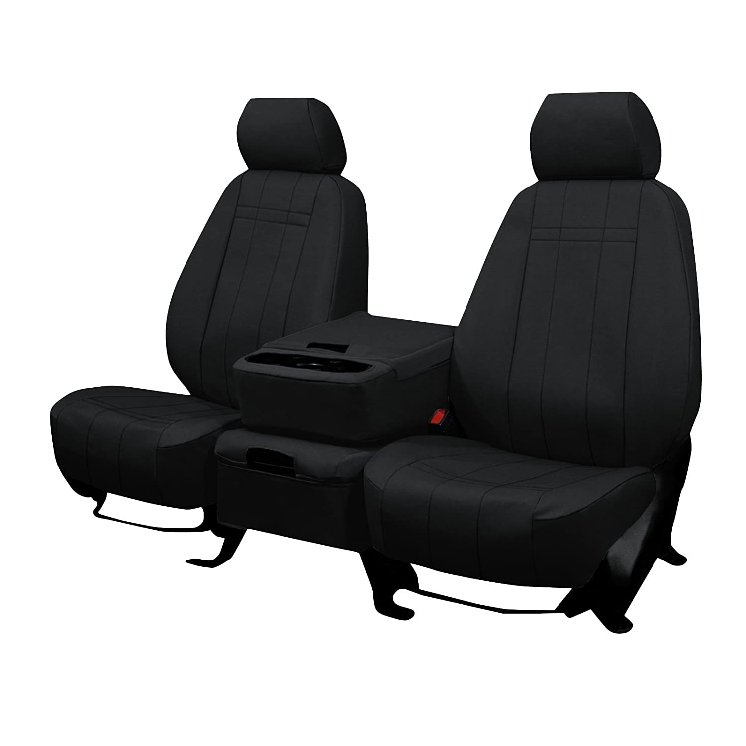 Front Seats: ShearComfort Custom Waterproof Cordura Seat Covers for Ford F250 (2017-2019) in Black w/Gray for 40/20/40 w/Folddown Opening Console and 3 Adjustable Headrests (Super Cab or Super ShearComfort Seat Covers Ltd.