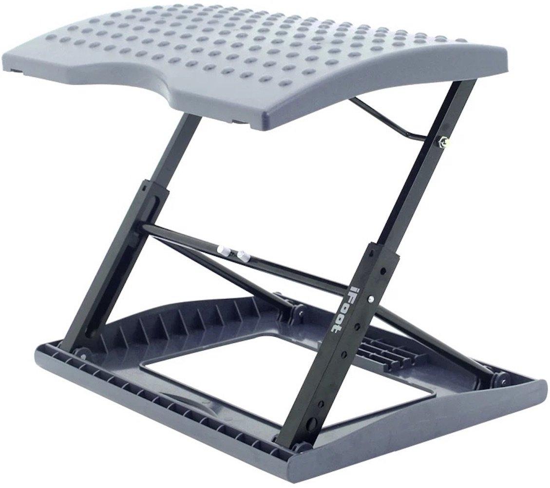 Adjustable Footrest for Home Office, Or Under Desk Ergonomic Massaging Foot Rest (Footstool) (Standard)