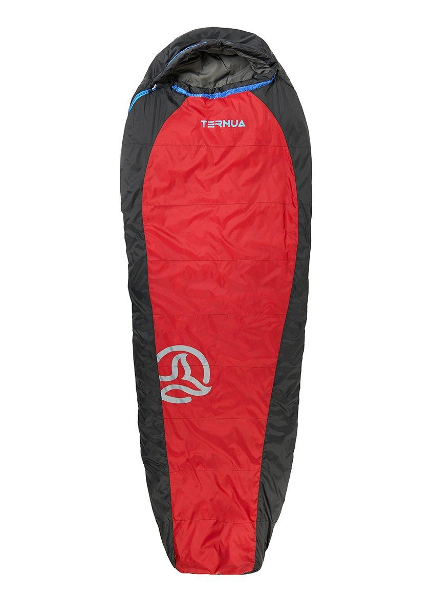 Ternua ® Camplight 100 Saco de Dormir, Unisex Adulto, Rojo/Negro, Talla Única: Amazon.es: Deportes y aire libre