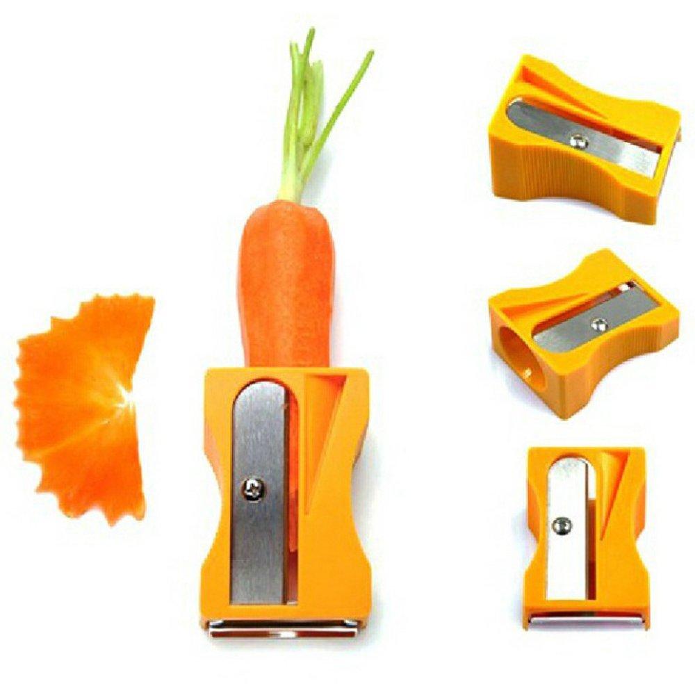 Ieasycan Carrot Cucumber Sharpener Peeler Kitchen Gadget Tool Vegetable Fruit Curl Slicer by ieasycan