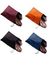 FashionBoutique high quality waterproof Nylon shoe bags- Set of 4 (Multicolor)