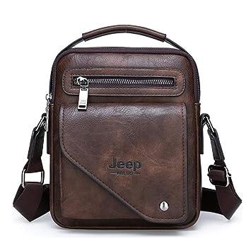 249cbf4b52c Amazon.com | JEEP BULUO Leather Shoulder Crossbody Bags For Men New  Fashion(Brown) | Luggage & Travel Gear