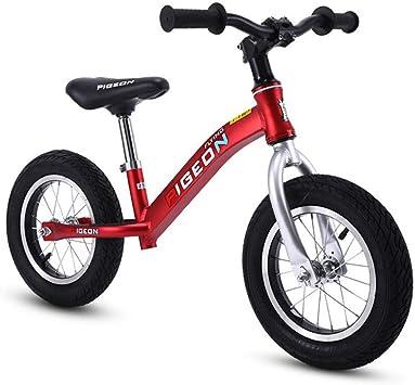 XIAOME Deporte Bicicleta Equilibrio Sin Pedal,Asiento Ajustable Neumáticos de Aire Los niños equilibran Bicicletas Bicicleta de Entrenamiento Paseos al Aire Libre 2-6 años Edad-Rojo: Amazon.es: Juguetes y juegos