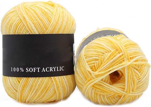 Lote de lana de lana para bebé de 50 g, resistente, triple marca ...