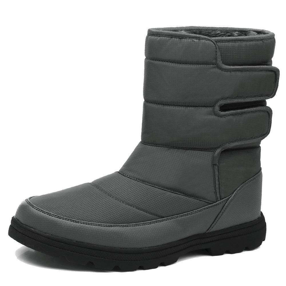 YIRUIYA Men's Snow Boots Outdoor Windproof Cold Weather Ski Warm Winter Booties 1811+1813-CA