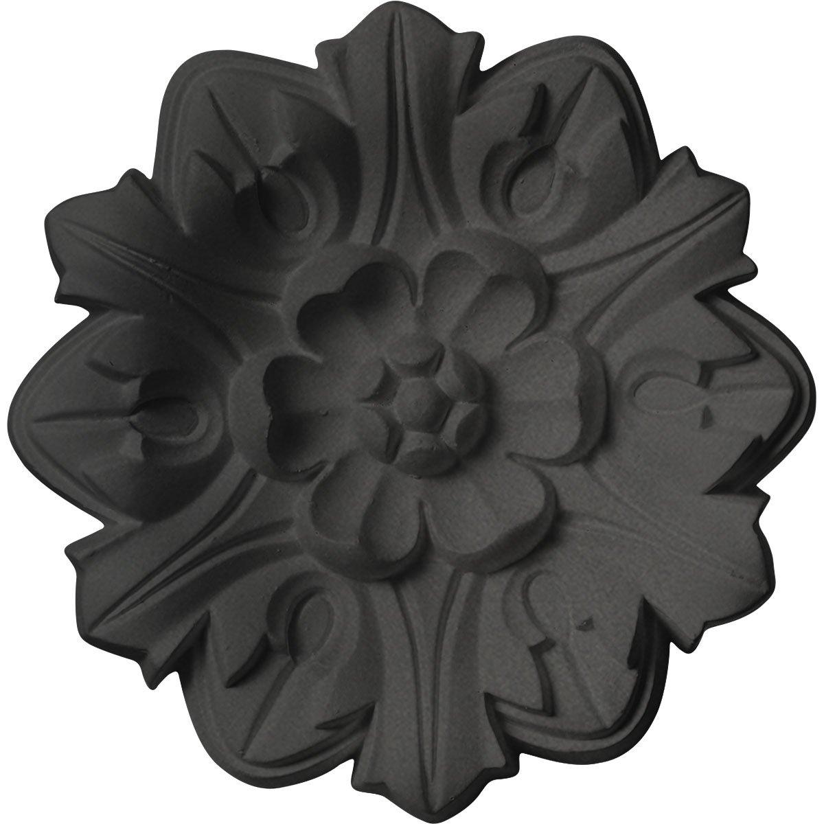 Ekena Millwork CM07EMSGS Ceiling Medallion 7 5/8'' OD x 1'' P Emery Leaf, Steel Gray