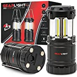 GearLight LED Lantern with Magnetic Base [2 PACK] - Battery Powered and Operated Camping Lanterns with Hanging Hook - Best Outdoor, Indoor, Hurricane, Emergency Light, Tent Lamp