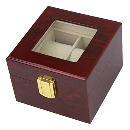 443b9f11f Red Wood Paint Outer High-End Watch Display Box (2 Grids)  Amazon.co.uk   Kitchen   Home