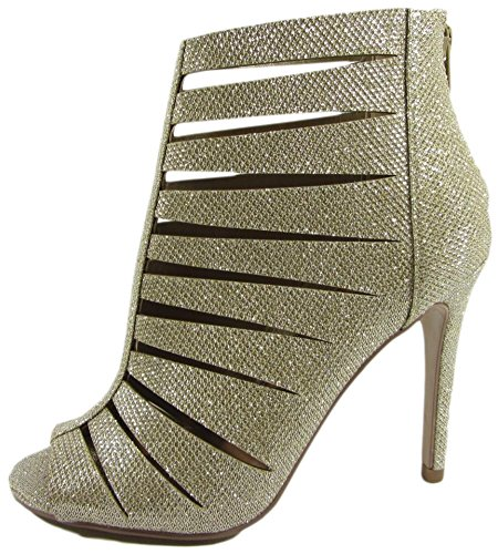 Delicious by Soda Womens Oneda S Cutout Peep Toe High Heel Bootie Boots