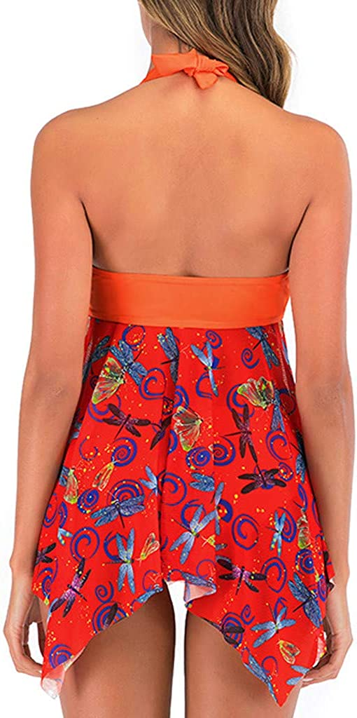 Fammison Tankini Swimsuits for Women Retro Bathing Suits Swimdress Swimwear Tankini Retro Skirt
