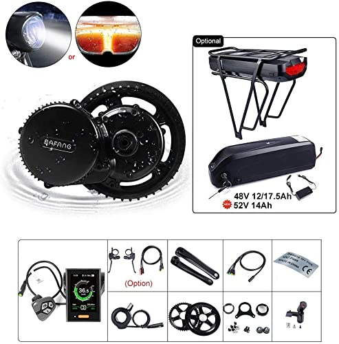 BAFANG BBS02B 48V 750W Ebike Motor with LCD Display 8fun Mid Drive Electric Bike Conversion Kit with Battery Optional