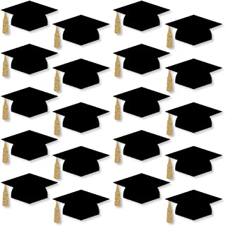 product image for Big Dot of Happiness Gold - Tassel Worth The Hassle - Graduation Hat Decorations DIY Graduation Large Party Essentials - 20 Count