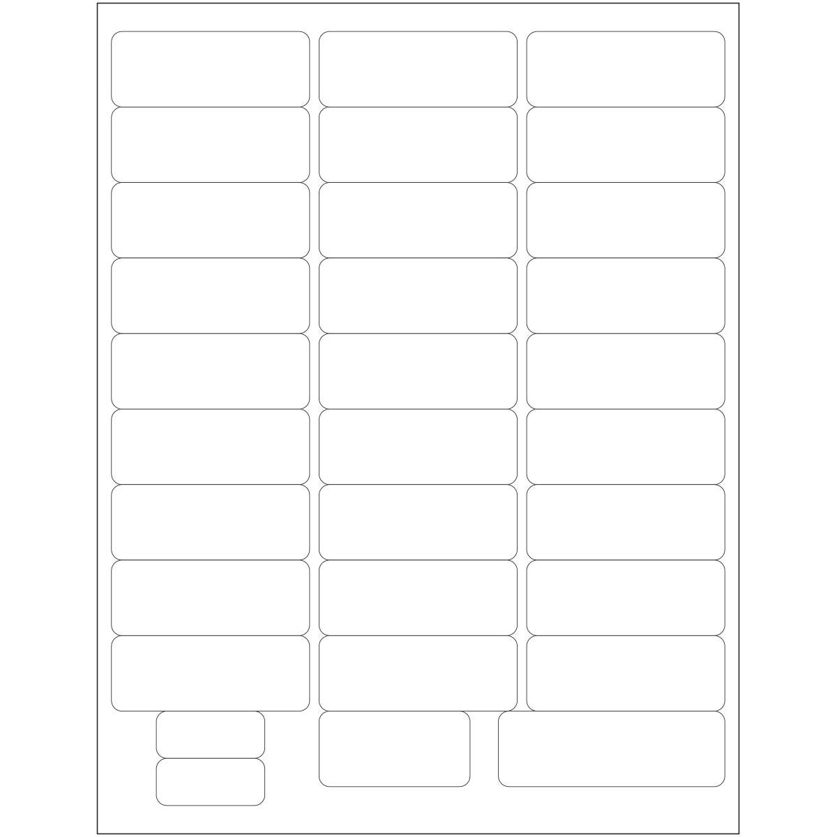 PDC Healthcare WBLBL8 Laser Portrait Premium Wristband Chart Label for Adult and Pediatric, 8.5'' Width x 11'' Length, White (Case of 1000)