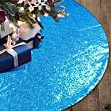 yuboo Teal Christmas Tree Skirt, 48 Inch Turquoise
