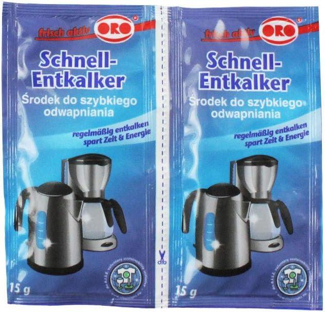 ORO fix rapidement-détartrants poudre pour chauffe-eau et machines à café 2 x 15 g
