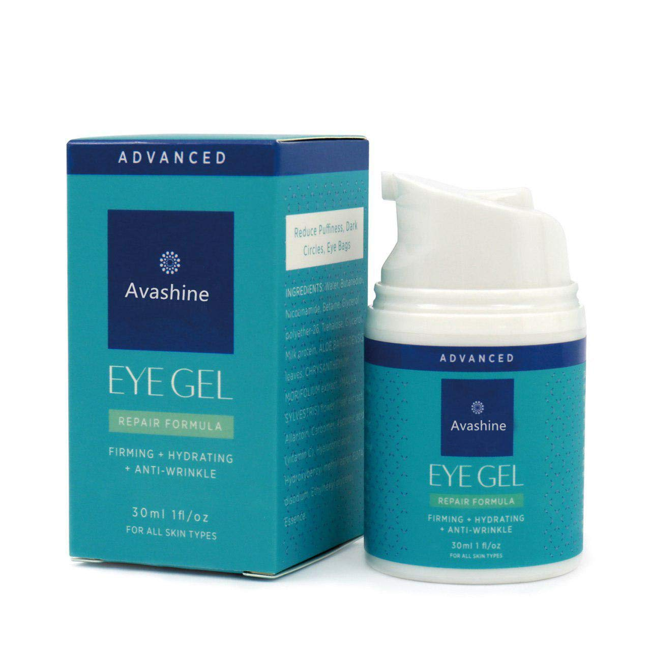 Avashine Natural Eye Gel for Dark Circles, Puffiness, Wrinkles and Eye Bags, Hydrating Eye Serum, Effective Anti-Aging Eye Gel for Under and Around Eyes by Avashine