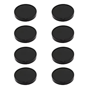 8 Pack Replacement Black Plastic Stay Fresh Lid Parts For Magic Bullet 250W (8)