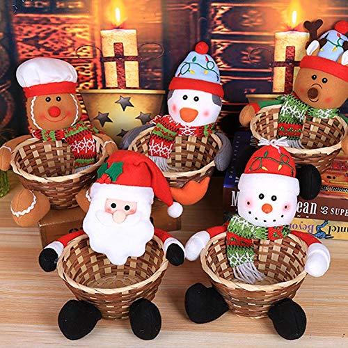 Decoración navideña bonita Papá Noel Papá Noel Cesta de caramelos Decoración de computadora Niños Regalo de Navidad...