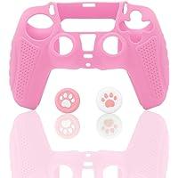 حقيبة تحكم من السيليكون لجهاز بلاي ستيشن 5، جلد تحكم باللون الوردي لجهاز بلاي ستيشن 5.