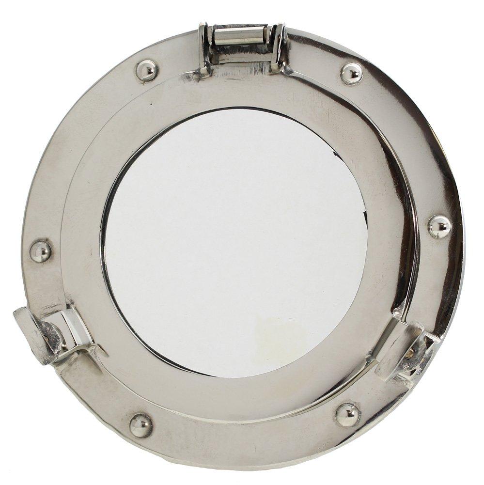 9 Chrome-Plated Porthole Mirror - Nautical Ship Decor RedSkyTrader
