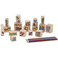 Melissa & Doug Others Estampar Una Escena Selva Pluvial