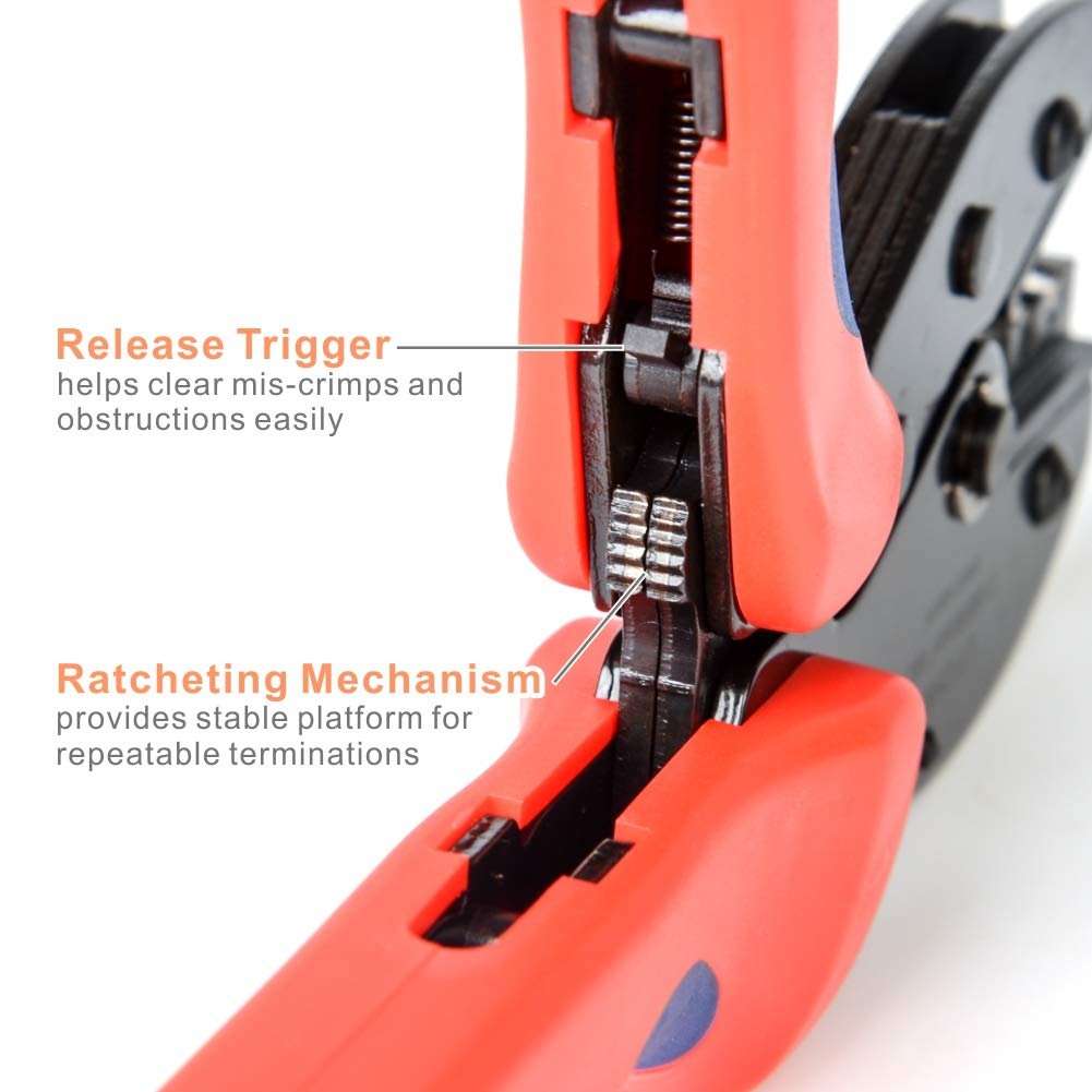 IWISS MC4 Crimping Tool Kit with Wire Cable Cutter, Stripper, MC4 Spanner and MC4 Connectors Solar PV Panel Tool Kit by IWISS (Image #5)