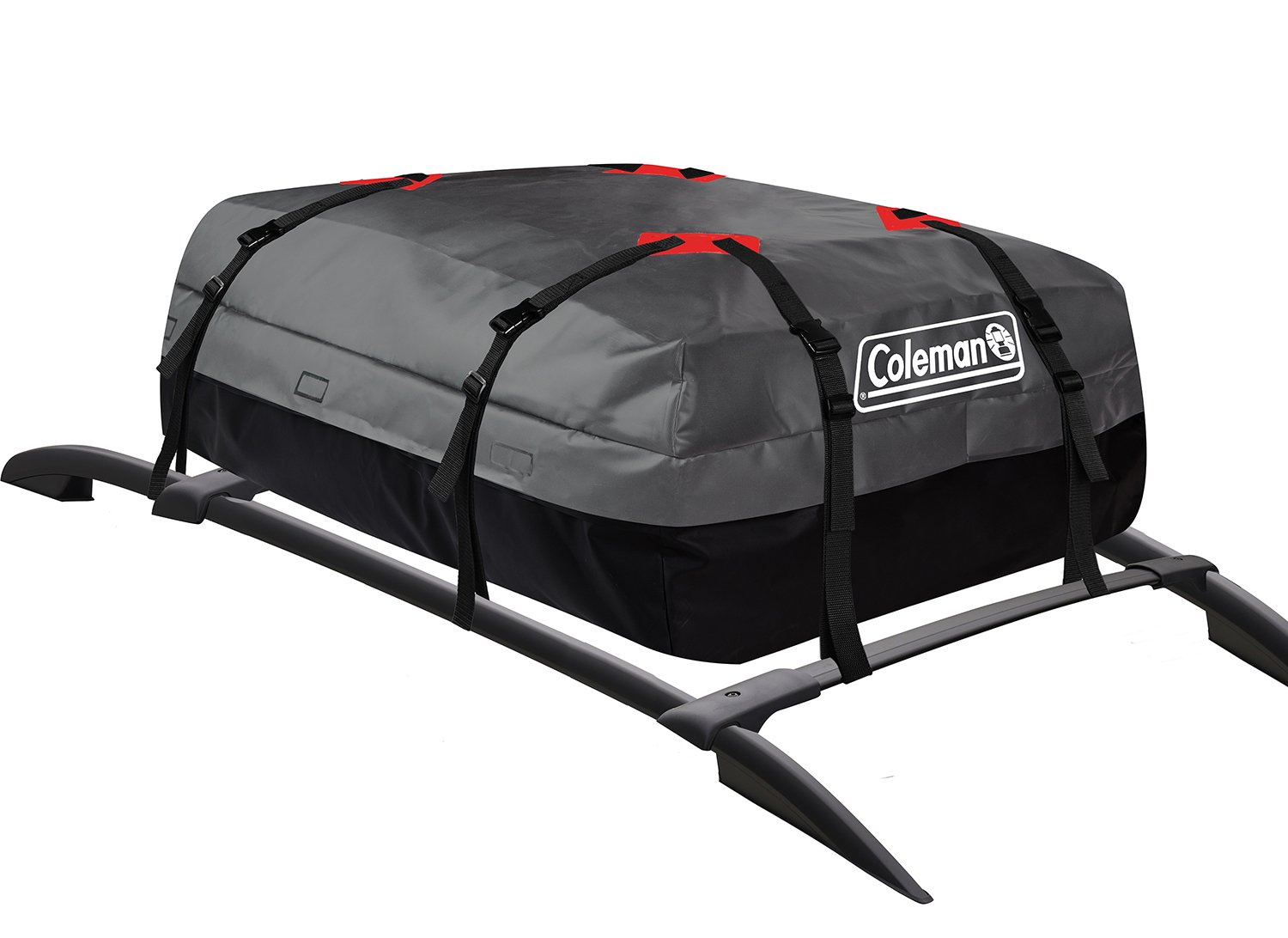 Coleman Waterproof Roof Top Rack Cargo Carrier - for Vehicles with and Without Rails - All Weather Storage Bag - Gray
