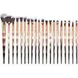 Tenmon Eyeshadow Brush Set, 20 Eyeshadow Liquid Eyeliner Kit Híbrido Antiarrugas Pincel de Maquillaje Makeup Foundation…