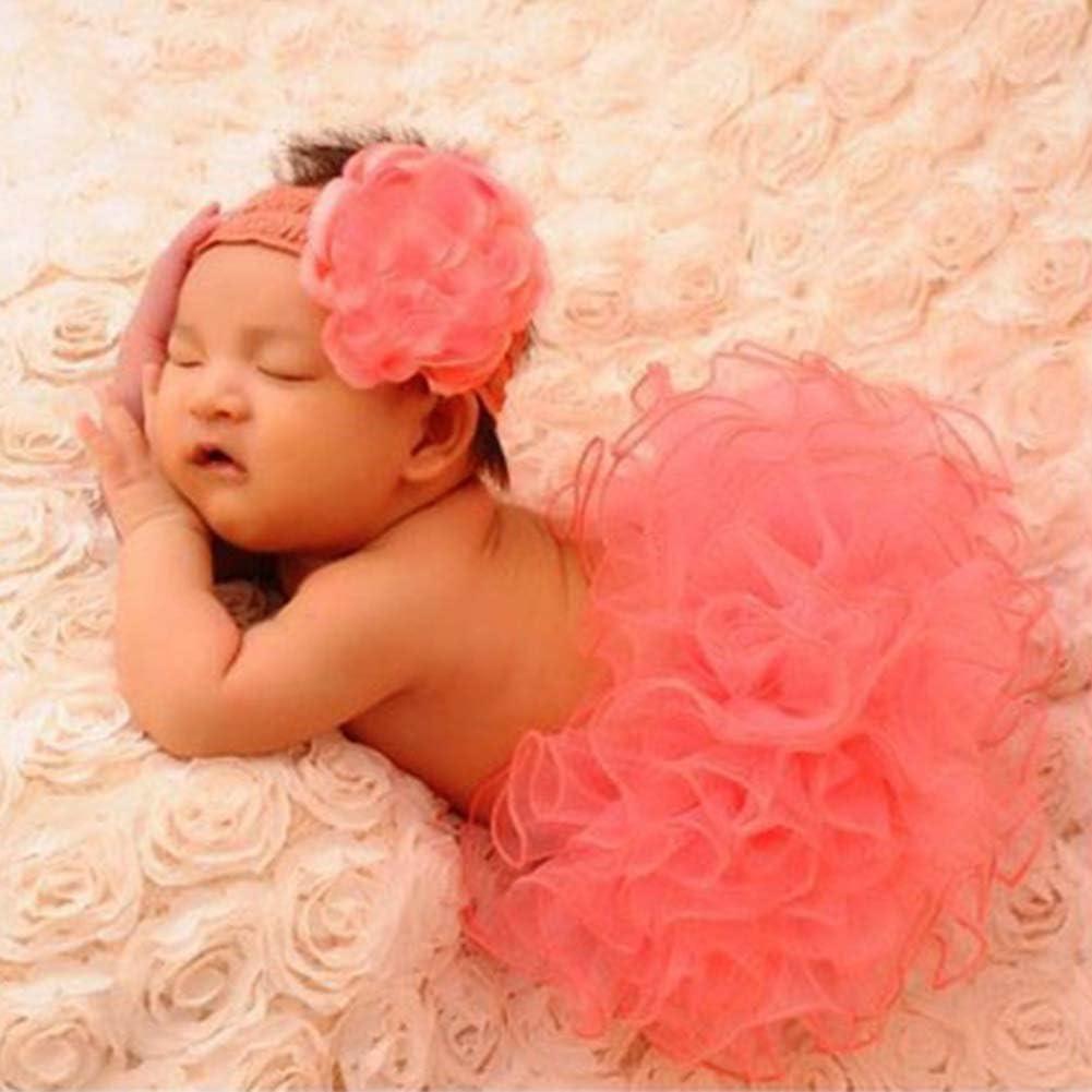 CONMING Cute Hermosa falda hecha a mano recién nacido 0 ~ 3 Meses Niña ropa cómoda Crochet traje de hilo suave Fotografía de la foto Protótipos de trajes -Pink