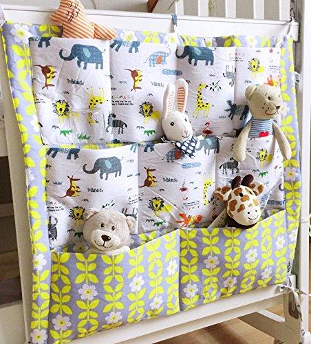 Bébé Sac Pochette de Rangement pour Lit Bébé Sac à Main Sac Organisateur pour Lit Bébé Storage Bags Pochette Bébé Table de Chevet Panier de Stockage en Coton Sac à Couche BXT