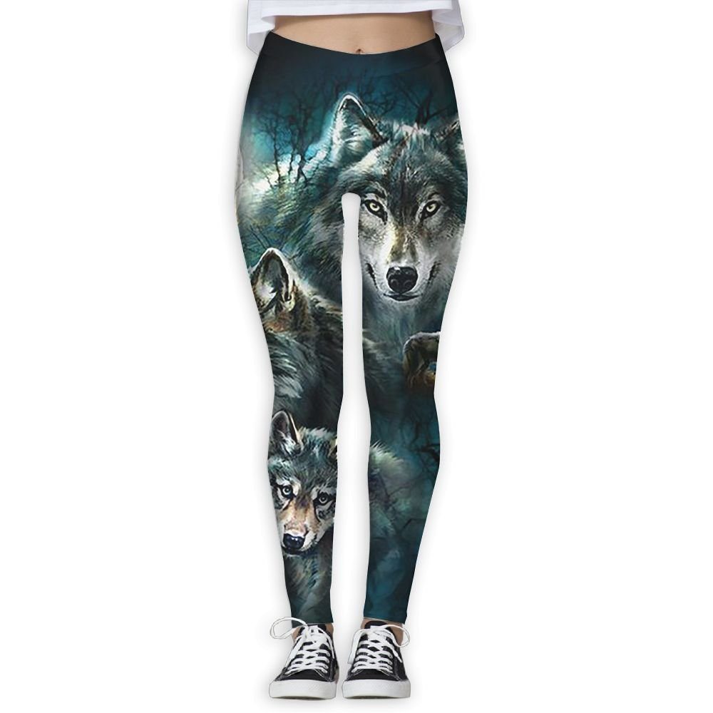 b77e28c8bf053 Amazon.com : Three Wolf Moon Women's Funny Print Yoga Leggings Pants Sport  Capri Leggings Workout Pants Gym Tights : Sports & Outdoors