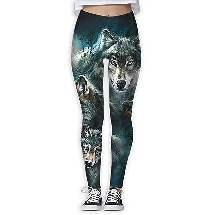 9e8865209d Three Wolf Moon Women's Fashion Yoga Leggings Pants Sport Capri Leggings  Workout Pants Gym Tights