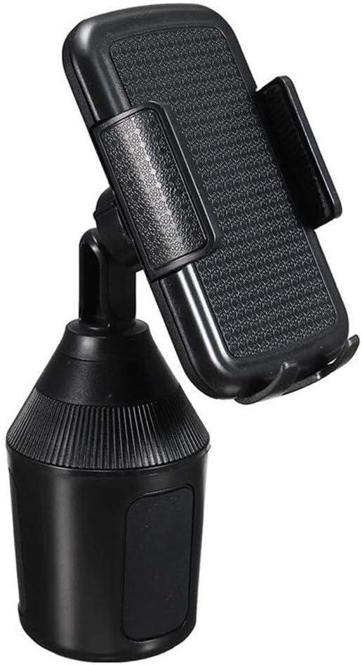 LLTT 360 Degr/és Support R/églable Coupe De Voiture Universel Kit Voiture for Les T/él/éphones Cellulaires GPS Support Dint/érieur Accessoires Porte-gobelets Color Name : Black