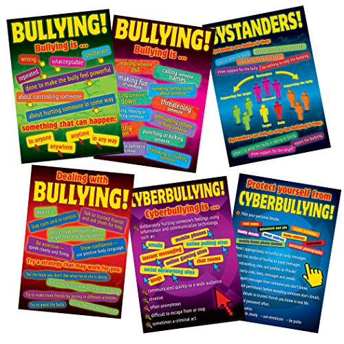 - Didax DD-556602 Bullying in a Cyber World 6-Poster Set, Grades 5-8 (Pack of 6)