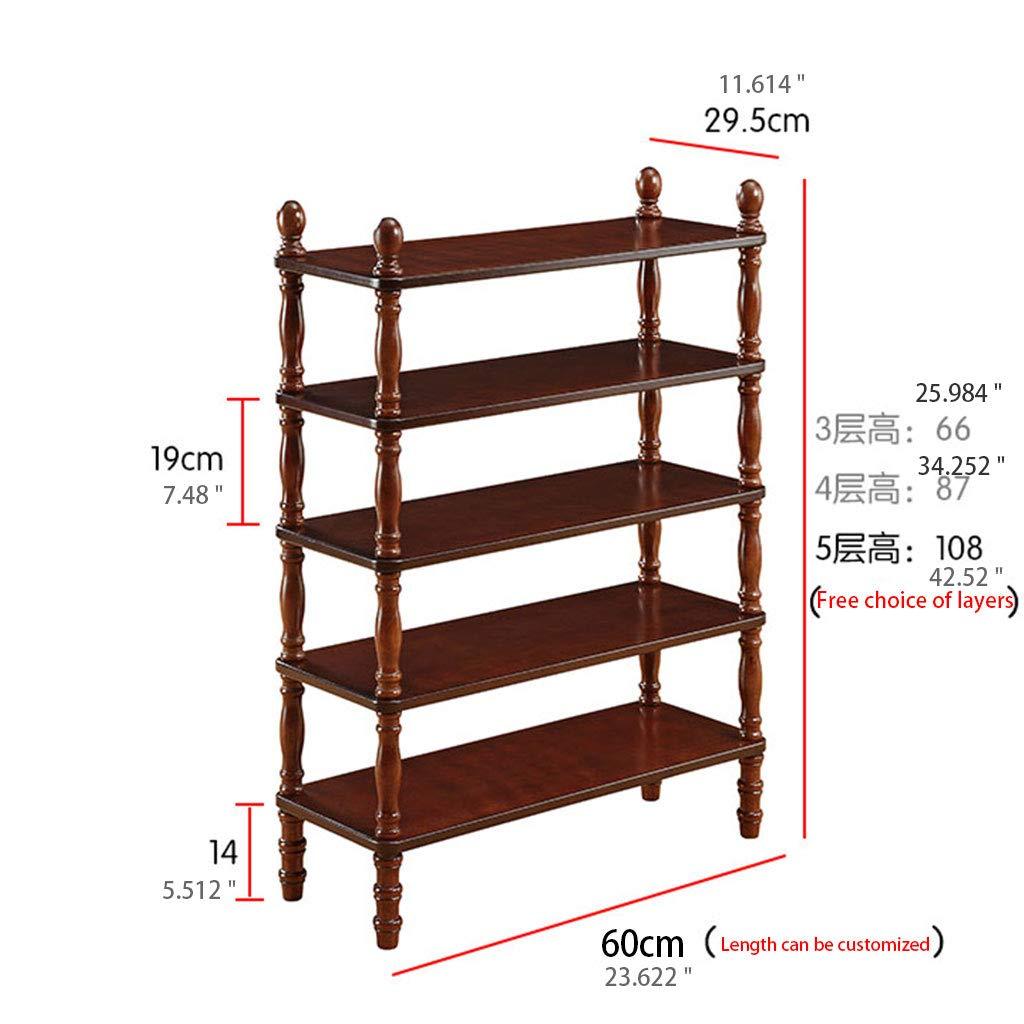 木製ディスプレイシェルフ3-5tier for bathroomキッチンリビングルームオフィスエントランス子供用プレイスブックシューズブラウン (サイズ さいず : Brown 3 tier) B07MTKB2J5  Brown 3 tier