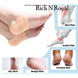 Gabru Silicone Heel Protector Socks Pad For Heel Swelling Pain Relief and Repair Dry Hard Cracked (Free Size)