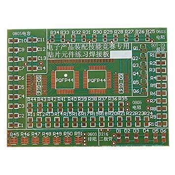 DIY Kit Plate SMD Componentes ejercicios de soldadura electrónica para el entrenamiento.: Amazon.es: Electrónica