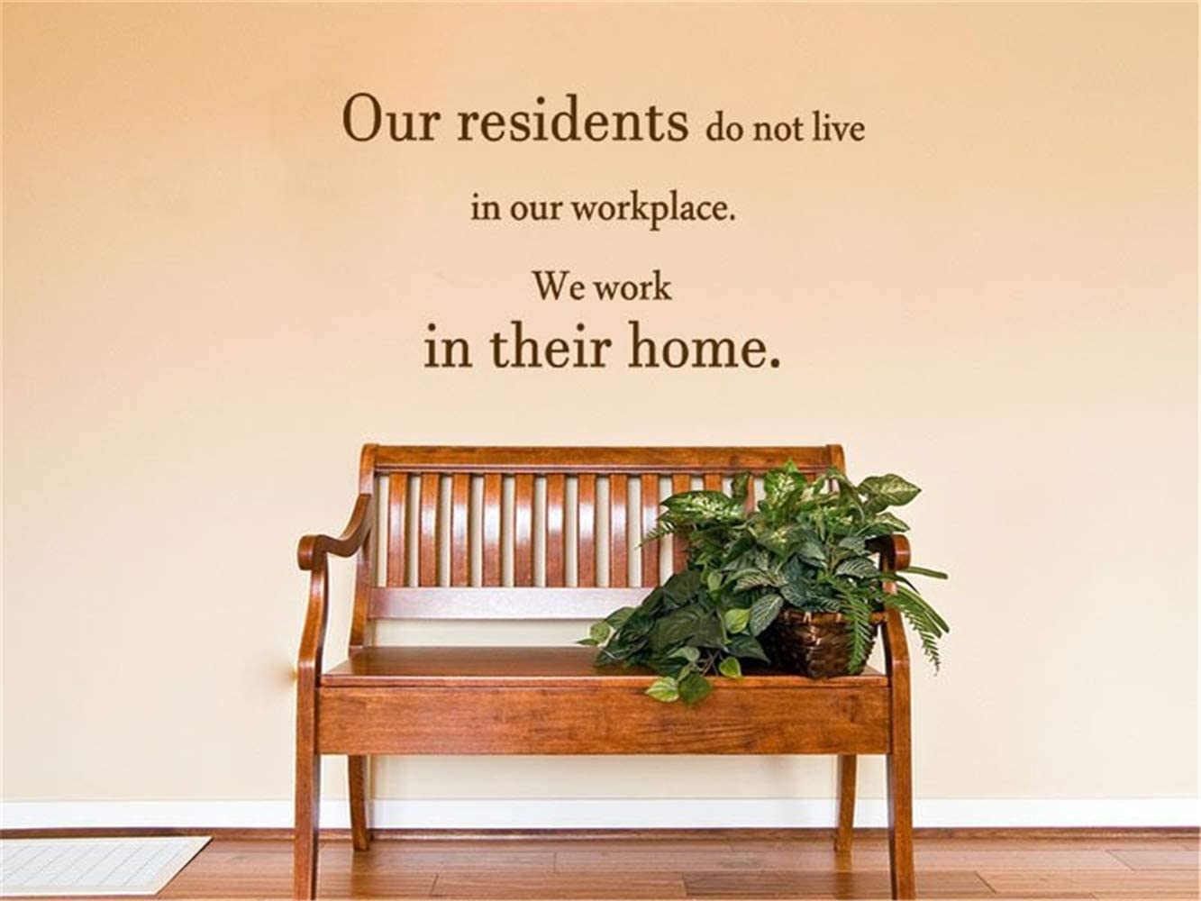 Wall Art Sticker Care Home Wall Quote - Our Residents.. Vinyl Decal Modern Transfer.