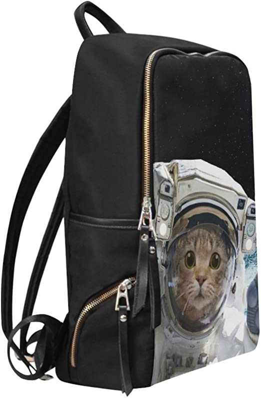 Cat Astronaut Laptop Backpack Bookbag Earth Hipster Funny Travel Backpacks Casual Daypack Workbag Shoulders Bag Sports Bags for Women Men Working Hiking Outdoor
