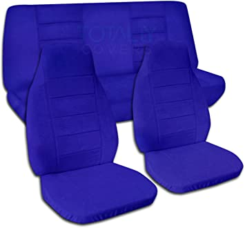 1987 1995 Jeep Wrangler YJ Solid Color Seat Covers Dark Blue