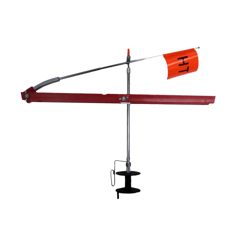 HT Enterprise Polar Thunder Tip-Up, Red, 500-Feet