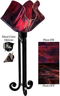 product image for Jezebel Radiance Torch Light. Hardware: Black. Glass: Plum, Flame Style
