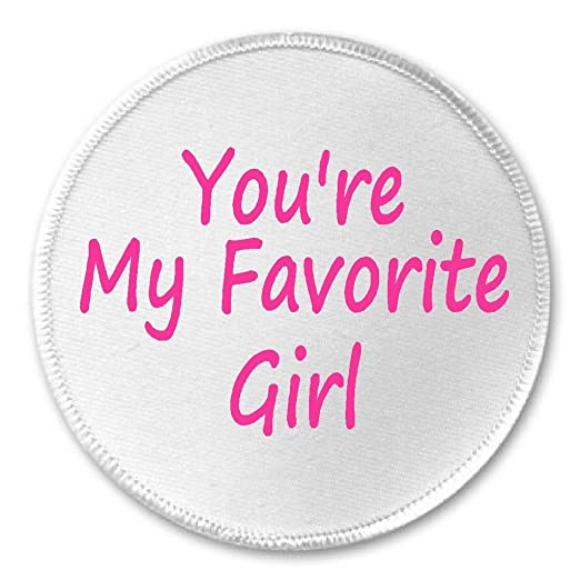 Amazoncom At Designs Youre My Favorite Girl 3 Sew On Patch
