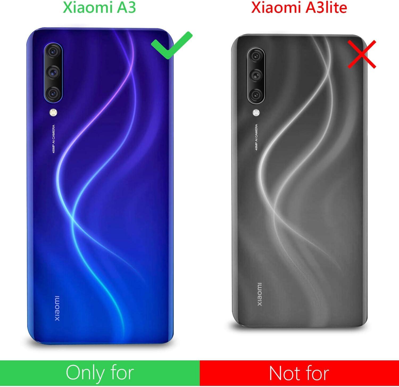 Leathlux Funda Xiaomi Mi A3 + 2 x Protector de Pantalla Xiaomi Mi ...