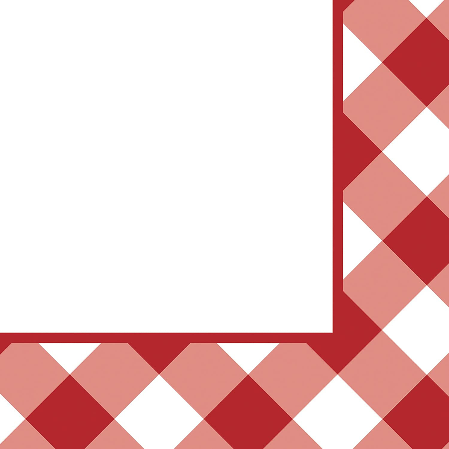Creative Converting 18 Count Beverage Napkins, Gingham Galore