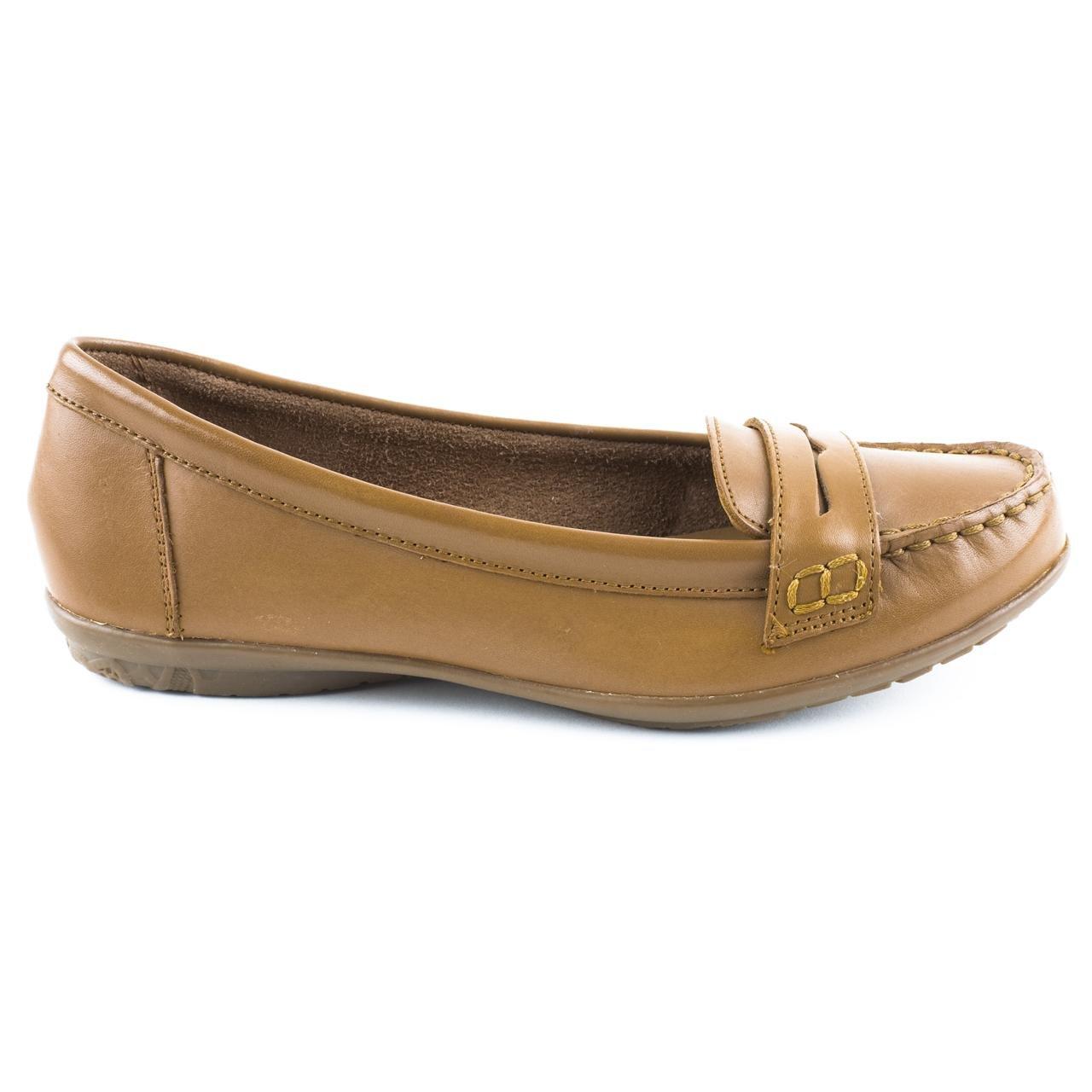 c16c8d18515 Ladies Hush Puppies Ceil Penny Brown - Beige Loafers Size 8  Amazon.co.uk   Shoes   Bags